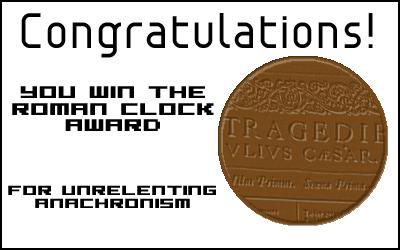 Award: Roman Clock